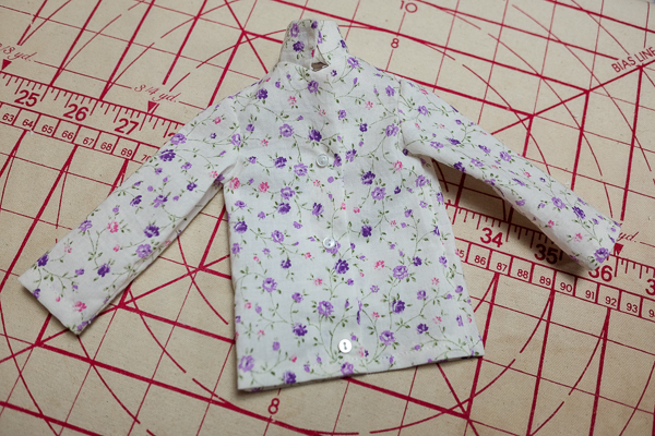 The completed pyjama top