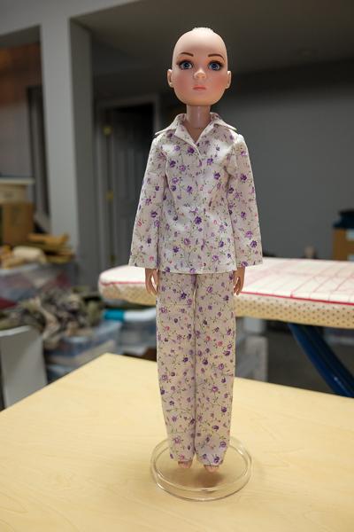 Completed pyjamas