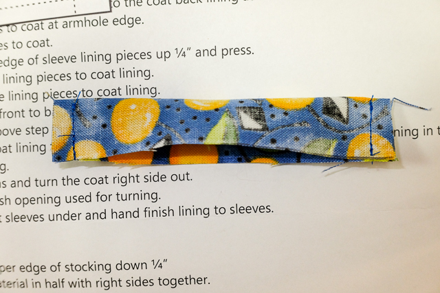 Sew the sides of the collar