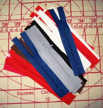 Tiny Zippers for Small Doll Clothes