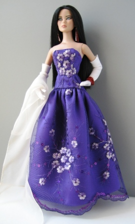 Mei Li in Couture Doll Shop Gown