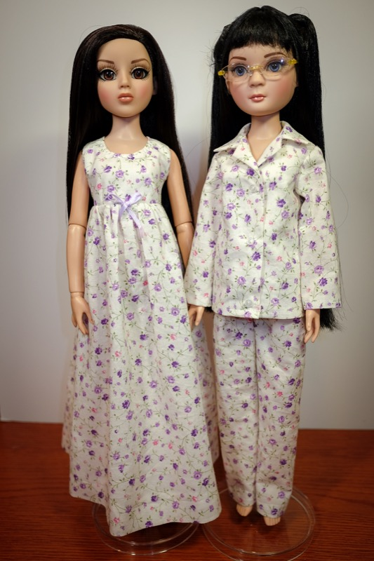 Pru and Amber's new night clothes.