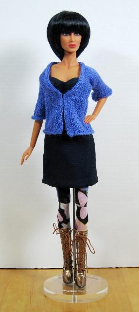 Raja in Blue Sweater